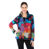 Damee NY Colorblock Soft Knit Twin Set in Mult -31385-Sizes L & XL Only