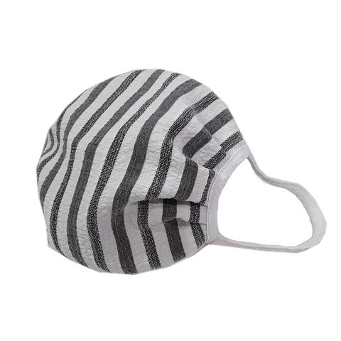 Moonlight by Y&S Mask - White & Grey Striped