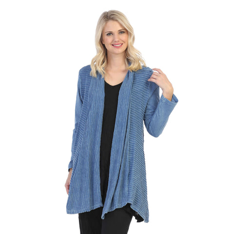 Jess & Jane Open Front Cardigan in Marine Blue - M57-MARN