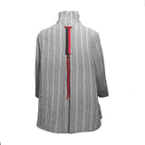 Moonlight Check & Stripe Shirt/Jacket in Grey - 2417-NP