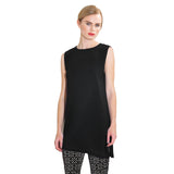 Clara Sunwoo High Round Neck Sleeveless Tunic in Black - TKU2-BLK