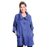 Damee NYC  Shimmery Signature Swing Jacket in Royal Blue - 200-RB