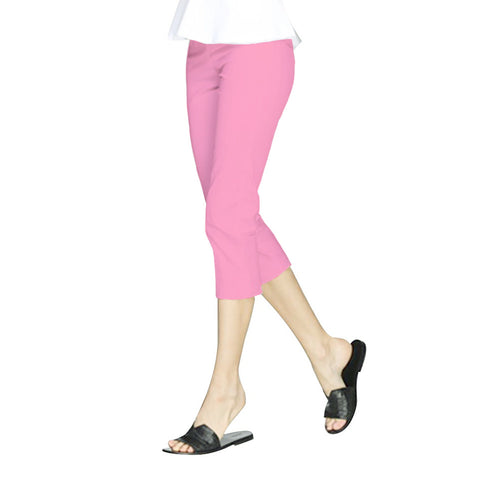 "Mesmerize  ""Nova"" Zip Front Capri's in Bubble Gum - NOVA-BBG - Sizes 6 & 8 Only"