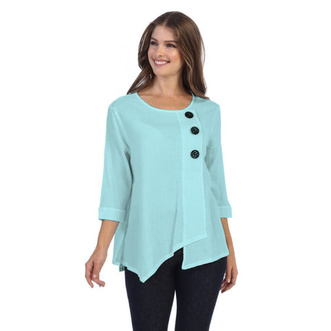 Focus Textured Point Hem Tunic in Sky - CG-102-SKY