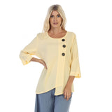 Focus Textured Point Hem Tunic in Yellow - CG-102-YW - Sizes S & M Only