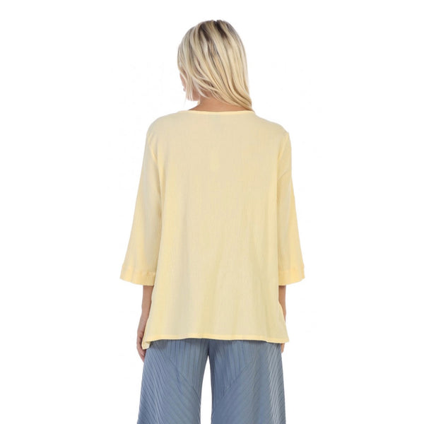 Focus Textured Point Hem Tunic in Yellow - CG-102-YW - Size M Only