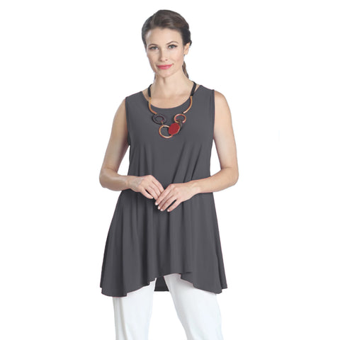 IC Collection Extender Length Tank in Charcoal - 6822T-CHC