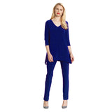 Clara Sunwoo V-Neck Side Point Tunic in Cobalt - T103-BLU - Size XS Only
