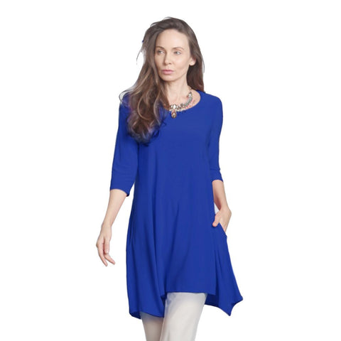 IC Collection Crisscross-Back Long Tunic in Cobalt  - 1575T-COB - Sizes S & M Only