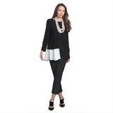 IC Collection Colorblock Tunic 8468T-BK
