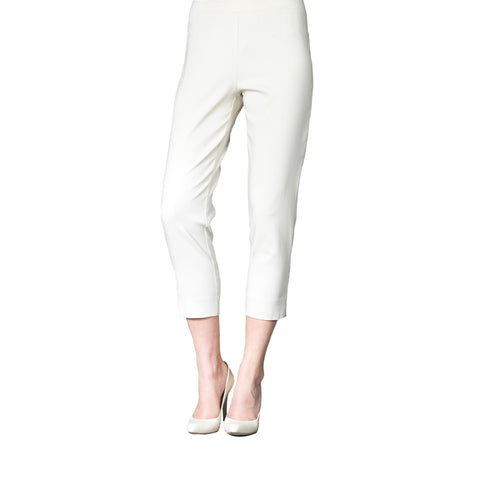 Clara Sunwoo Straight Leg Capri Pants in White - CP2-WHT
