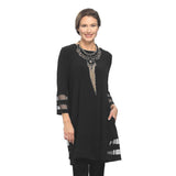 IC Collection Mesh Trim Tunic in Black - 2517T ♥ BLK