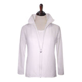 Valentina Signa Jacket and Tank Top Set in White - JS-WHT