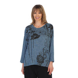 "Jess & Jane ""Anemone"" Easy Fit Pocket Dolman Top - GB1-1288"