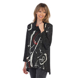 "Jess & Jane ""Matilda"" Abstract Print Cowl Neck Tunic - GB2-1247 - Sizes L & XL Only"