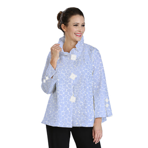 IC Collection Jacquard High-Low Jacket in Sky Blue - 2132J-SKY