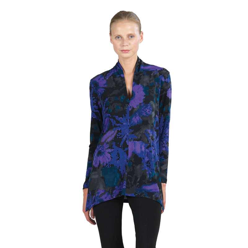 Clara Sunwoo Mosaic Print V-Neck Tunic in Purple/Muti - TU86P - Size XS Only