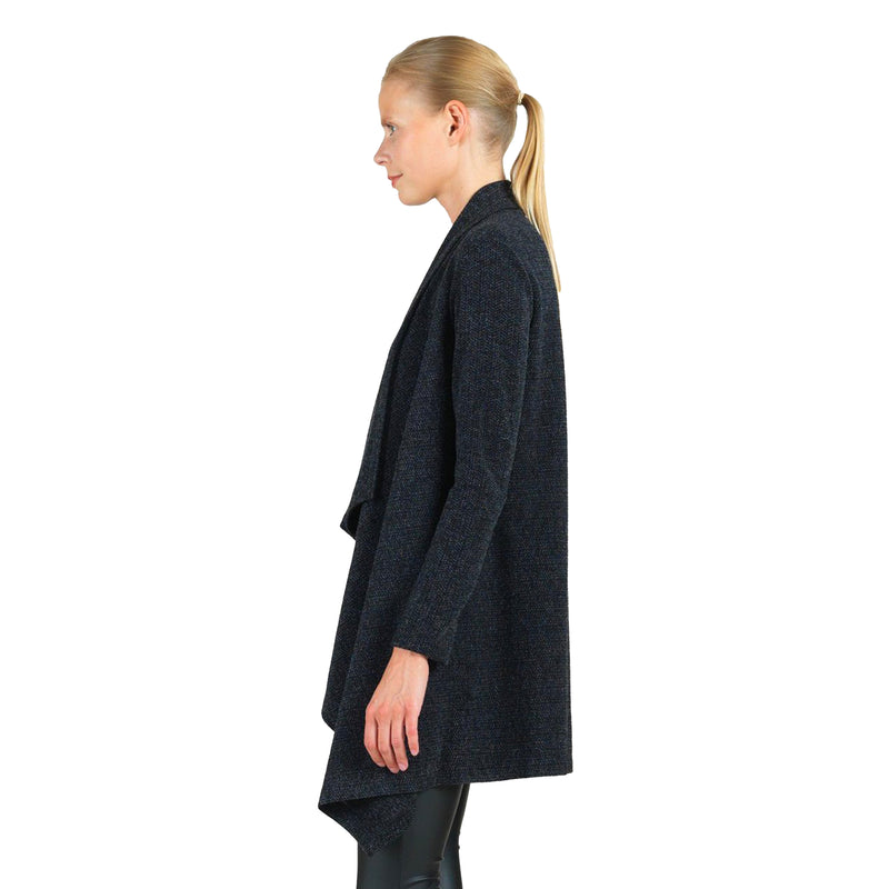 Clara Sunwoo Sweater Knit Cardigan in Charcoal - CA44W2-CHR