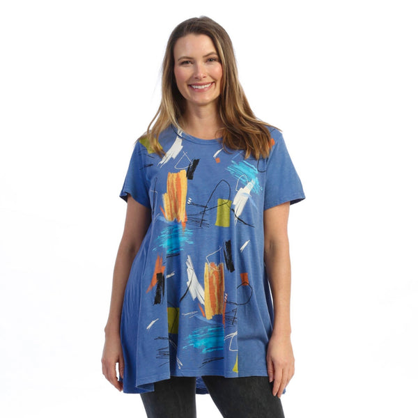 "Jess & Jane ""Impression"" Abstract-Print Tunic Top - M30-1615"