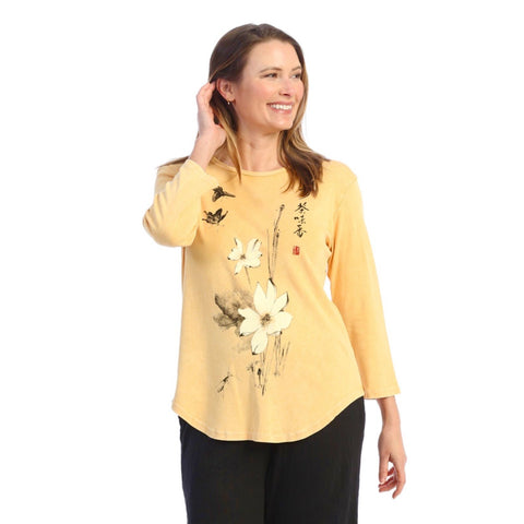 "Jess & Jane ""Blissful"" Mineral Washed Top - M80-1616"