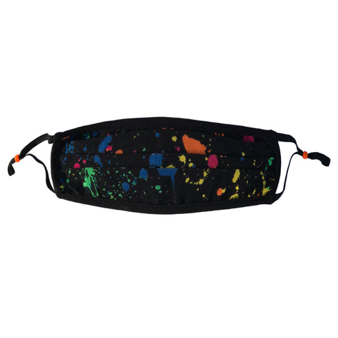 Style-Rite Adjustable Polka Dot Print Mask - Paint Splatter