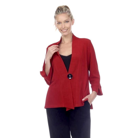 Moonlight High-Low Button Front Jacket in Red -  2006-RD