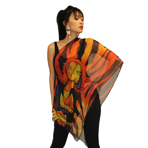 Dilemma Picasso Art Inspired Silk Scarf - NS-22-PIC