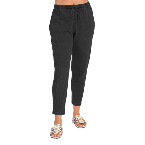 Jess & Jane Mineral Washed Tapered Jogger Pants - M77-BLK