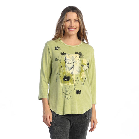 "Jess & Jane ""Love Story"" Mineral Washed Top - M80-1586"