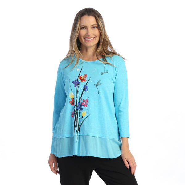"Jess & Jane ""Serenity"" Mineral Washed Cotton Tunic Top - M48-1582"