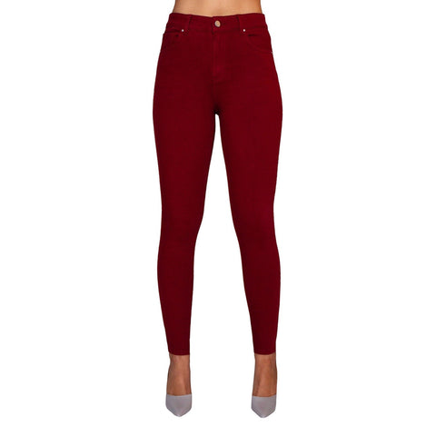 "Lior Paris ""Jackie"" Five-Pocket Straight-Leg Pant in Ruby Red - JACK-RR"