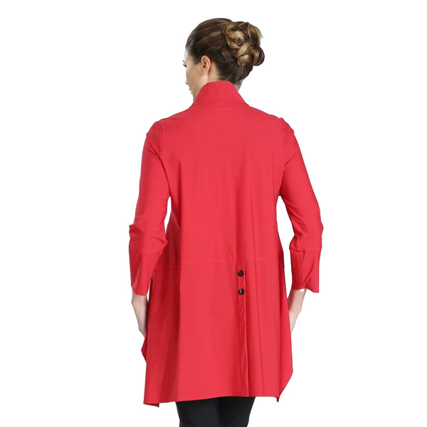 IC Collection Button Front Parachute Jacket in Red - 3800J-RED