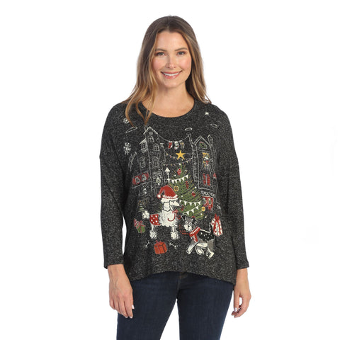 "Jess & Jane ""Holiday Tails"" Soft Knit Tunic Top - GB1-1552"
