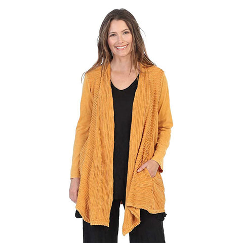 Jess & Jane Open Front Cardigan in Canary - M57-CAN
