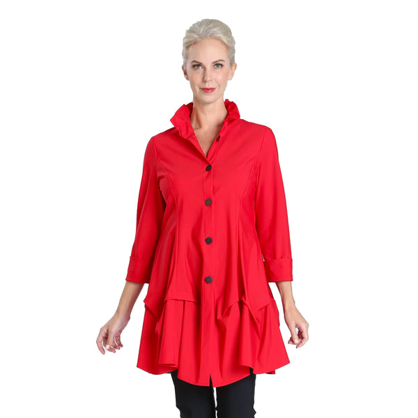 IC Collection Parachute Shirt/Jacket in Red - 3820J-RED