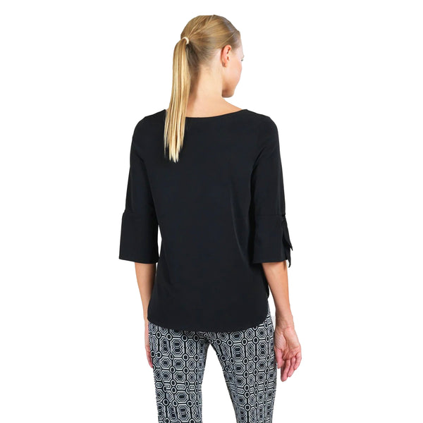 Clara Sunwoo Solid High-Low Top in Black - T16-BLK - Sizes XS & M
