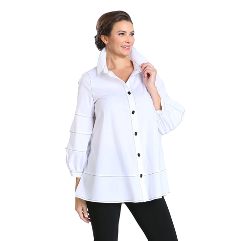 IC Collection Renaissance Blouse in White - 3651B