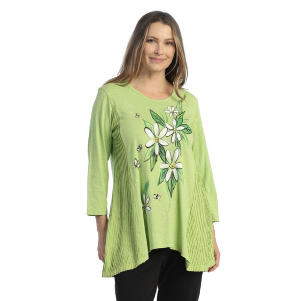 "Jess & Jane ""Bee Free"" Floral Print Tunic - M55-1583"