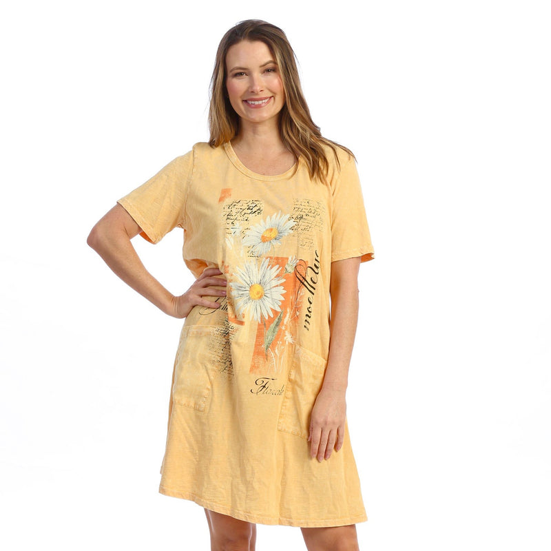 "Jess & Jane ""Mellow"" Mineral Washed Cotton Dress - M78-1605"