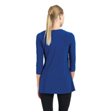 Clara Sunwoo Solid Soft Knit Side-Tie Tunic in Cobalt - T61-COB
