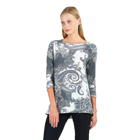 Clara Sunwoo Paisley Boat Neck Sweater Tunic - T39WP