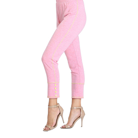 IC Collection Soft Knit Pull-On Pants in Pink - 3714P-PNK