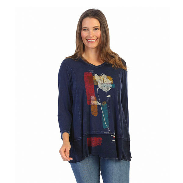 "Jess & Jane ""Emotions"" Mineral Washed Tunic Top - M58-1529"