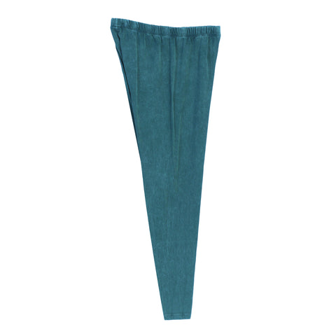 Jess & Jane Mineral Washed Cotton Legging Pants in Cypress - M31-CYP - Sizes S & Plus Sizes