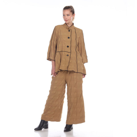 Moonlight Textured Pull-On Pant in Camel - P-2113-CAM