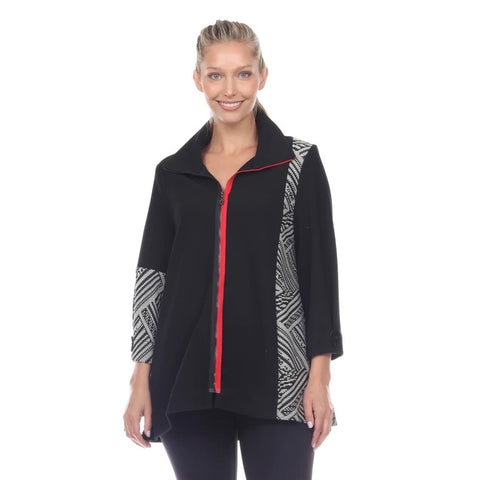 Moonlight Cozy Mixed-Media Zip-Front Jacket  - 2024 - Sizes M & L