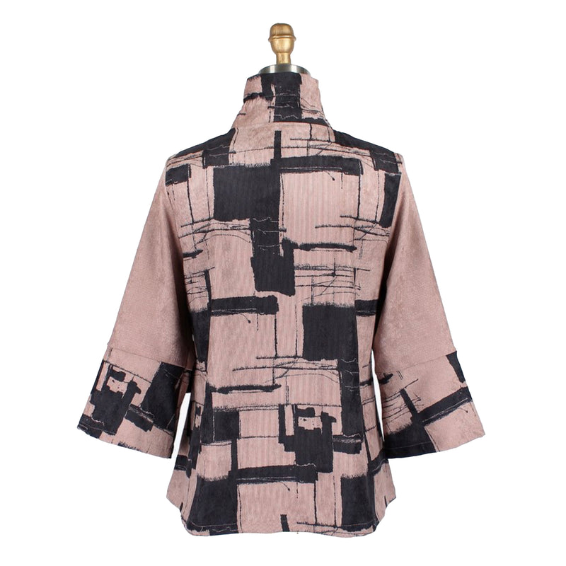 Damee Corduroy Abstract Print Jacket in Taupe - 4663-TPE