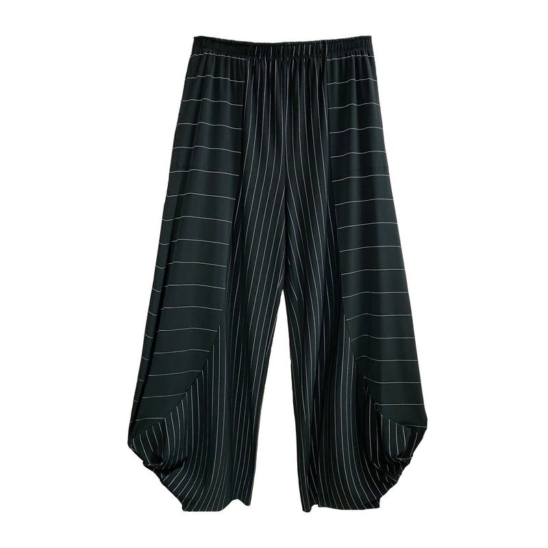 IC Collection Striped Stretch Knit Pull-On Pant - 3861P
