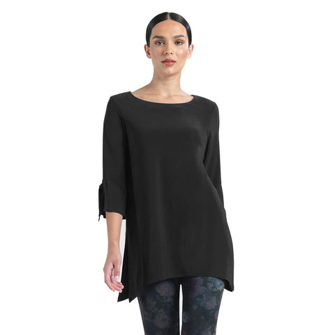 Clara Sunwoo Solid Soft Knit Tunic in Black - TU72-BLK - Size 1X Only