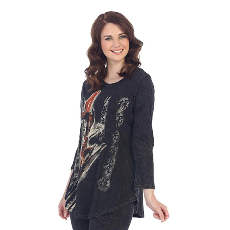 "Jess & Jane ""Bamboo"" Mineral Washed Cotton Tunic Top - M28-1081"